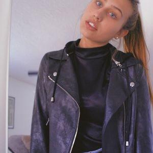 Black silence+noise Leather Jacket